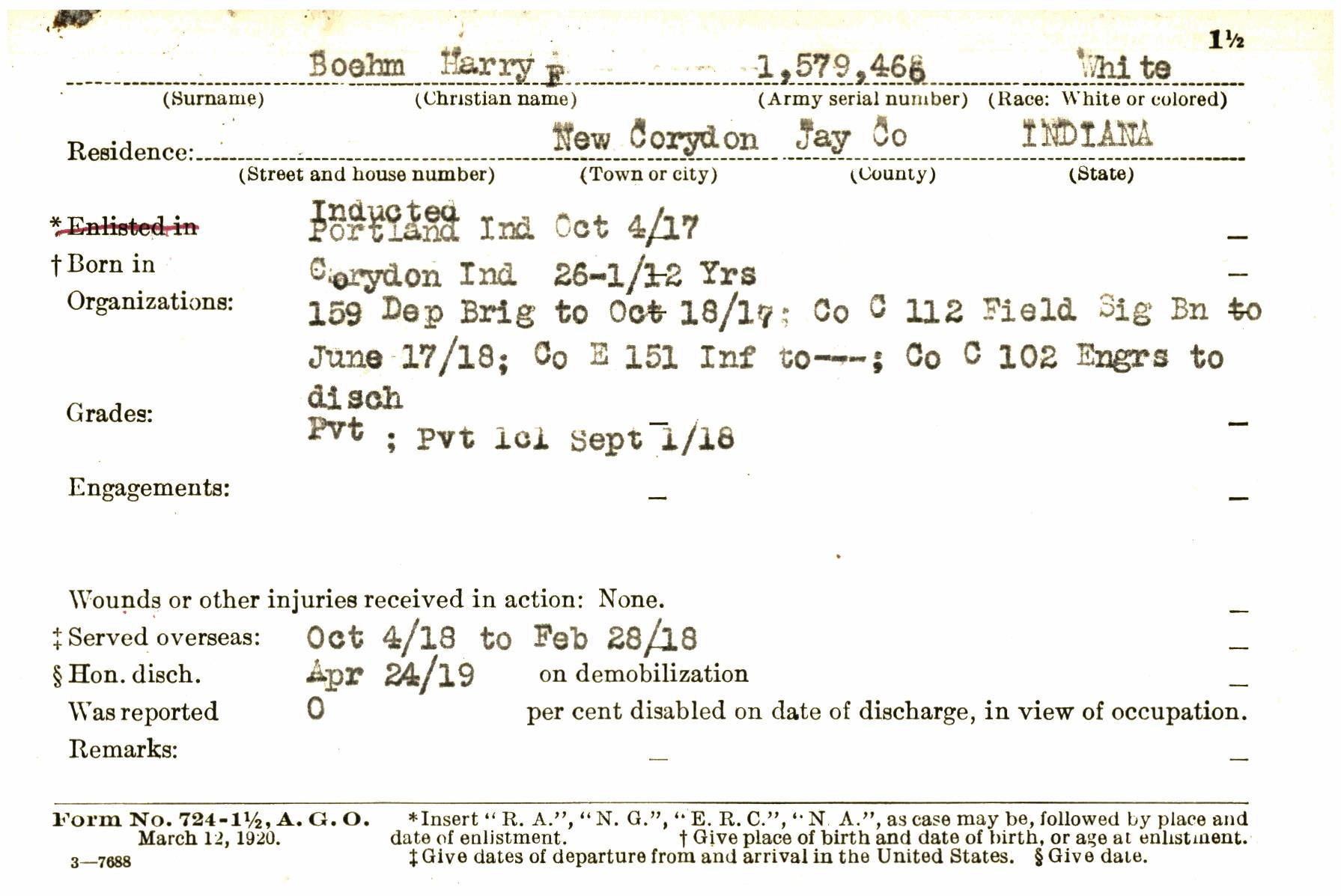 WWIB0005887-A (Indiana World War I Service Record Cards