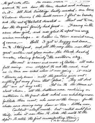 Earle Talbot letter re: 1906 Earthquake, 1906-04-25