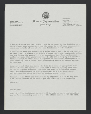(Carter Woodson) Letter to Prospective Audiences, and Envelope