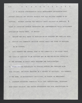 (Carter Woodson) Remarks prepared for delivery to The National Council of Black Child Development, June 26, 1975