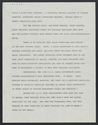 (Carter Woodson) Speech before the National Association of FM Broadcasters, Marriot Hotel, September 20, 1975 - 1