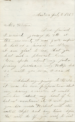 Houghton Civil War Letters