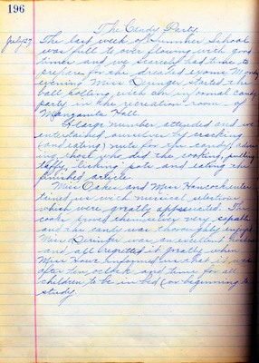 Summer School Diary, part 3H - 1914