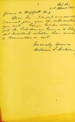 William S. Archer to James Hugh Moffatt (WWPL Manuscript ...