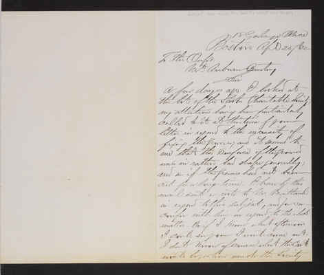 AAA_Letter: Wm. J. Smith, President Scots Charitable Society to Supt.,1882 April 25, regarding care of lot