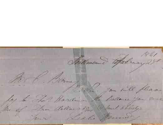 Charles Barney Papers Box 1 Document  101