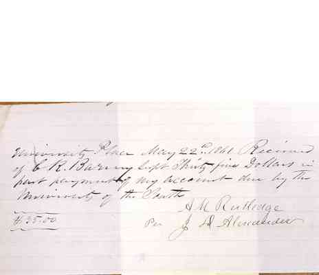 Charles Barney Papers Box 1 Document  102