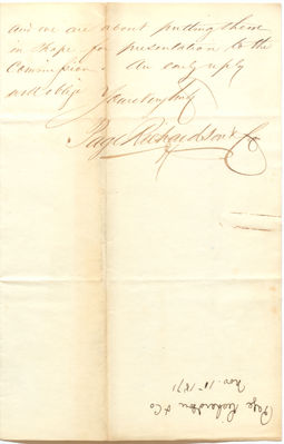 1871 Correspondence with Page, Richardson, and Company