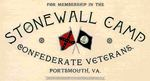 Stonewall Camp Confederate Veterans Membership Applications