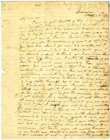 Thomas T. Sloan letter collection